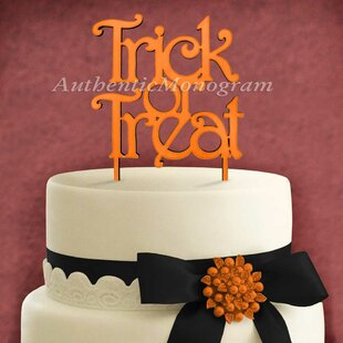 Trick and Treat Wooden Cake Topper