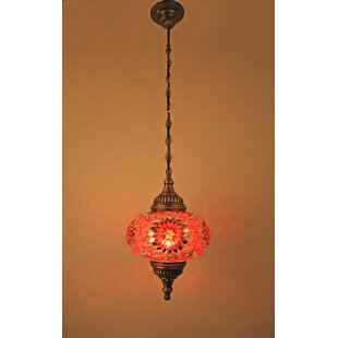 Ellzey 1-Light Globe Pendant by Bloomsbury Market