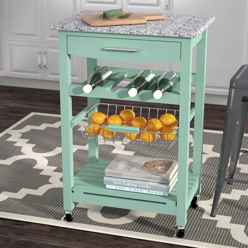 Winston Porter Macy Kitchen Cart With