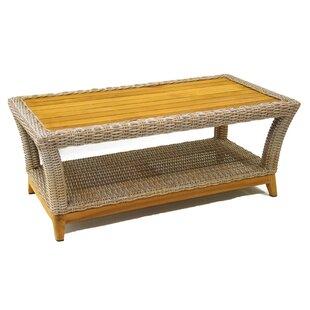 Birch Lane™ Asta Wicker & Teak Coffee Table