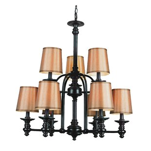 TransGlobe Lighting Modern Meets Traditional 9 Shaded Chandelier