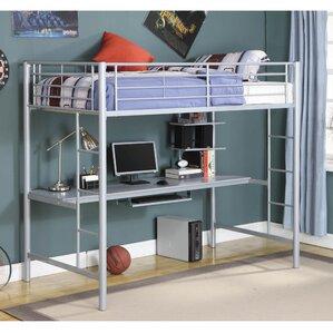 Marvelous Belfort Twin Loft Bed With Wood Workstation Part 20