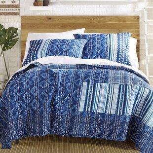 Avisa 100% Cotton Reversible Quilt Set
