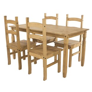 Choe Dining Set With 4 Chairs By Brambly Cottage