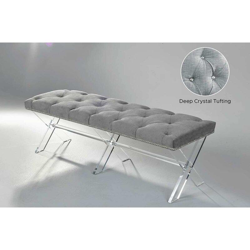 Everly Quinn Corriveau Upholstered Bench Wayfair
