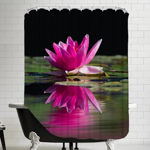 Asia Lotus Flower Single Shower Curtain