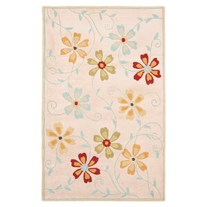 Blossom Floral Design Beige / Multi Contemporary Rug