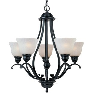 Alcott Hill Sparland 5-Light Shaded Chandelier