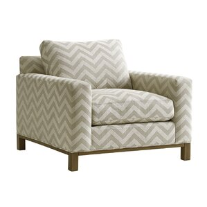 Shadow Play Chronicle Armchair and Ottoman by Lexington