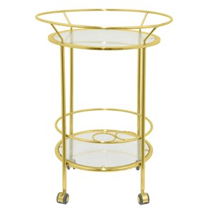 Metal and Glass Bar Cart by Three Hands Co.