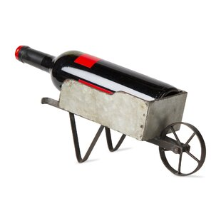 Wheelbarrow Tabletop Wine Bottle Holder b..