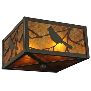 Meyda Tiffany Songbird 2-Light Flush Mount