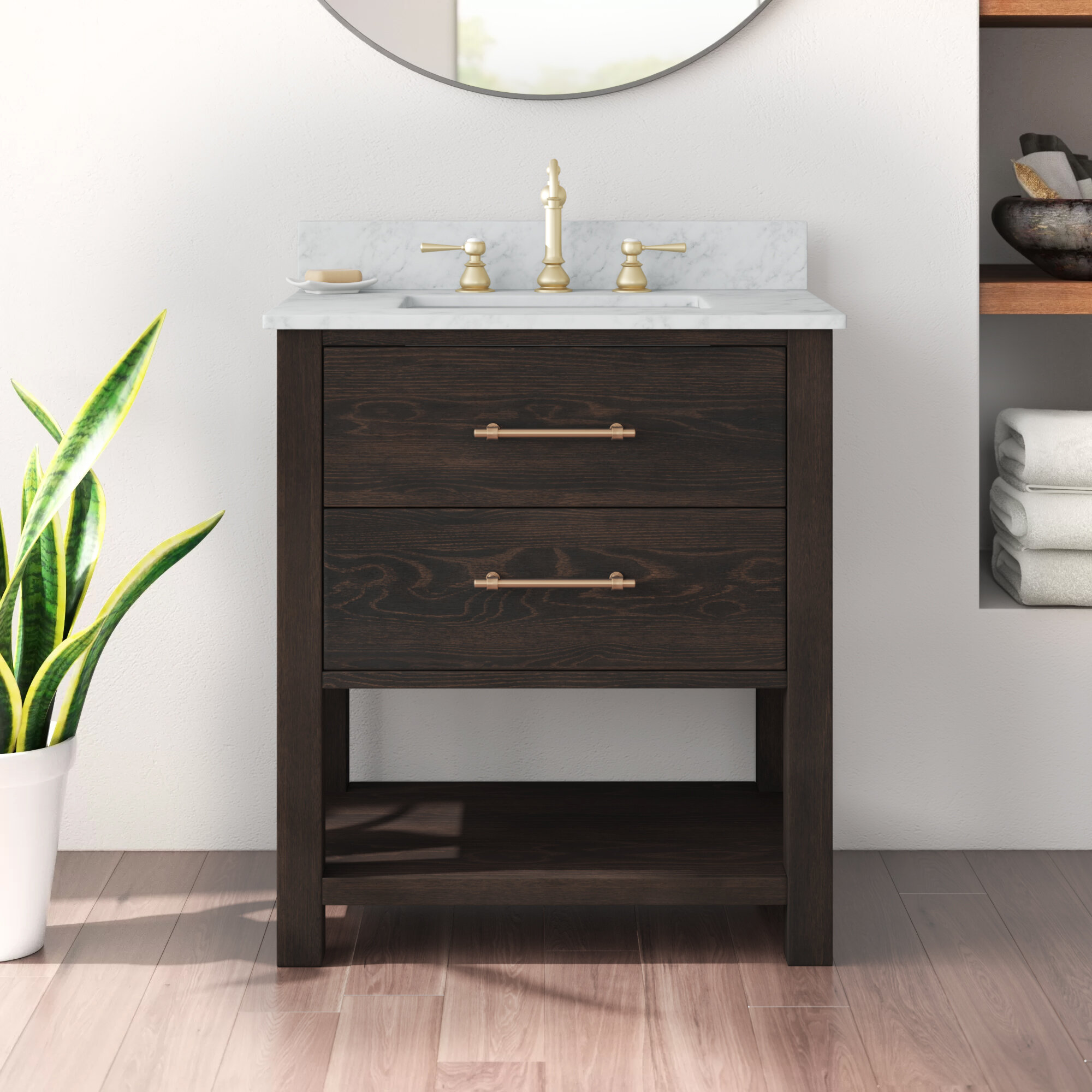 Burchette Fouke 30 Single Bathroom Vanity Set Reviews Allmodern