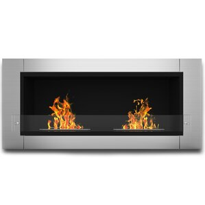 Willow Ventless Wall Mount Bio-Ethanol Fireplace by Wade Logan