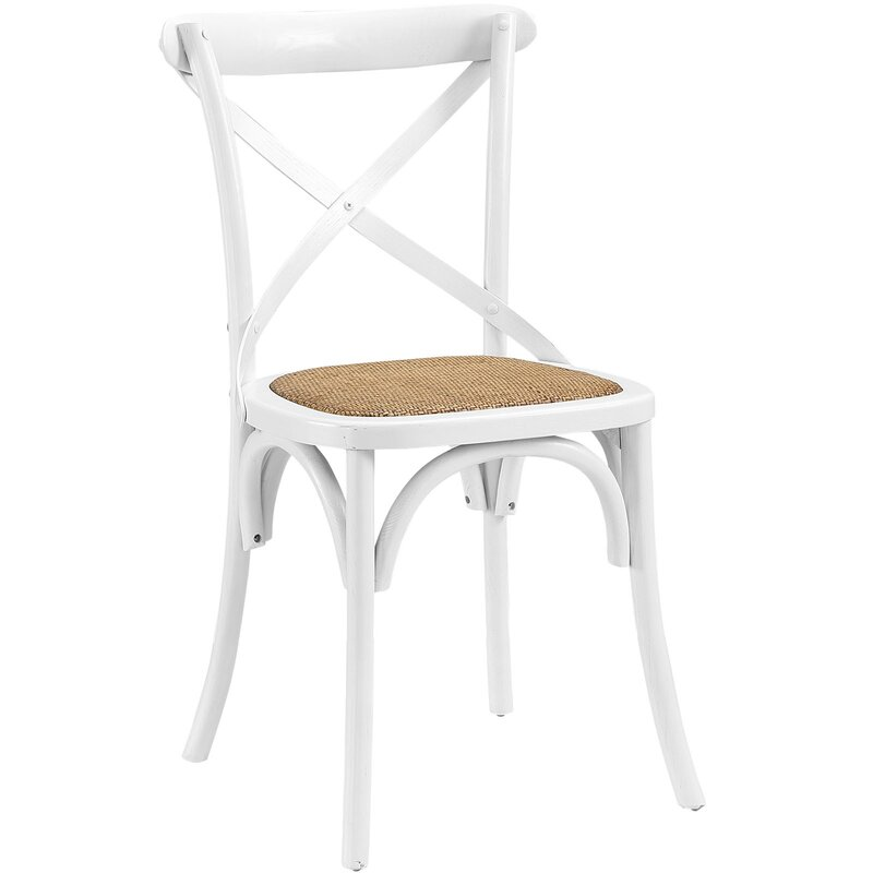 Gage Solid Wood Dining Chair. #farmhousechair #whitechairs #diningchairs #furniture #diningfurniture #farmhousestyle