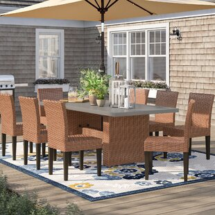 Waterbury 9 Piece Outdoor Patio Dining Set with Cushions