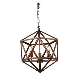 CWI Lighting Amazon 3-Light Geometric Chandelier
