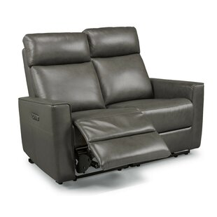 Shop Pell Leather Reclining Loveseat by Latitude Run