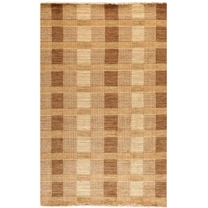 Apple Creek Hand-Knotted Brown Area Rug