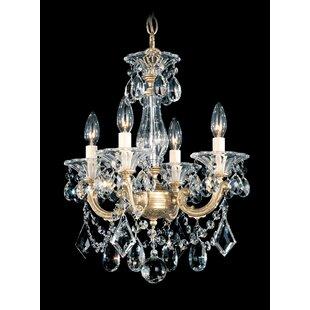 Schonbek La Scala 4-Light Candle Style Chandelier
