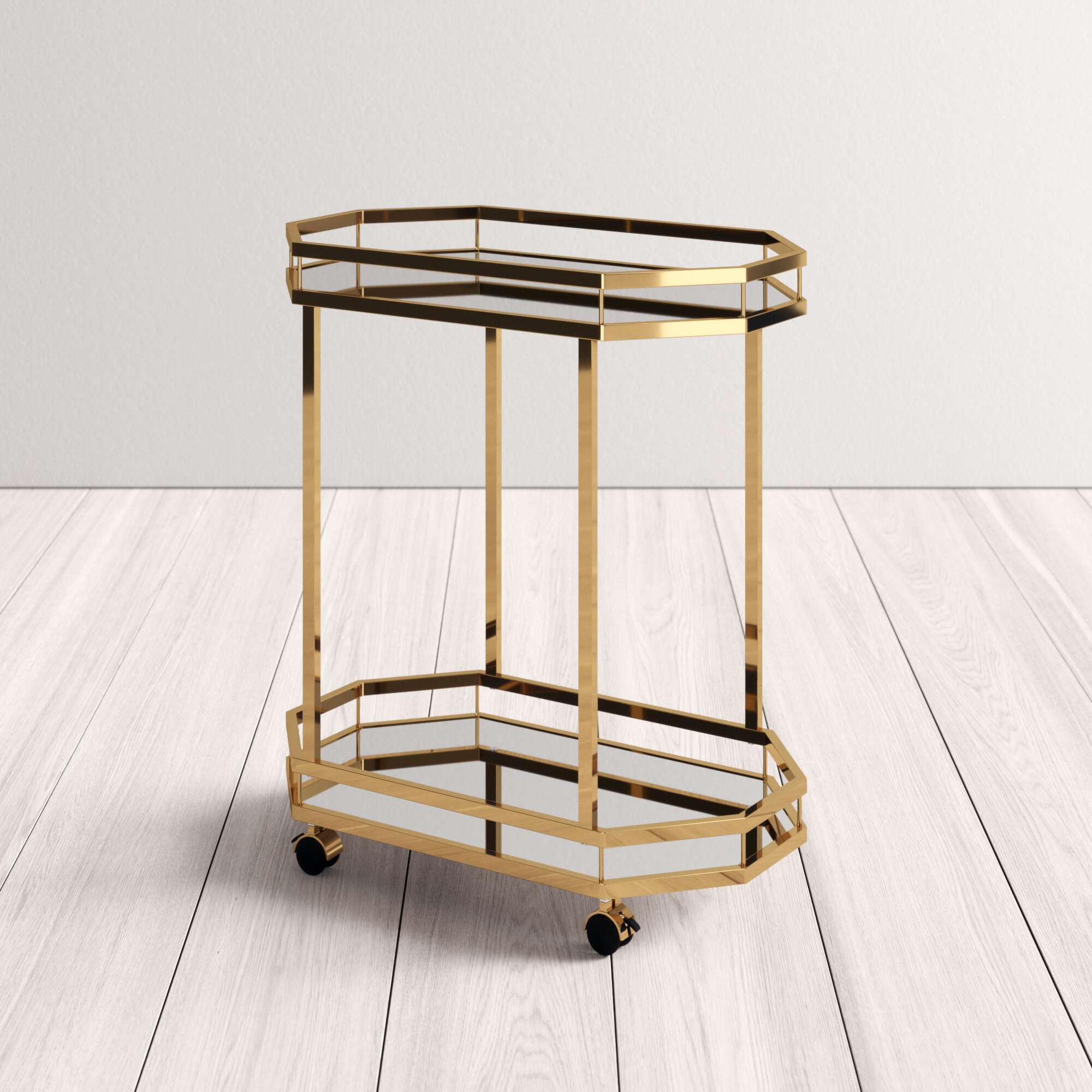 Deschenes Bar Cart Reviews Allmodern
