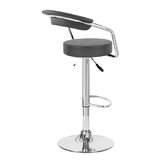 Ortrun Adjustable Height Swivel Bar Stool by Orren Ellis