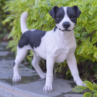 Standing Jack Russel Dog Statue