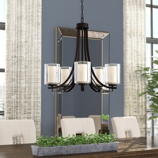 Mercury Row Bensenville 5-Light Shaded Shaded Chandelier