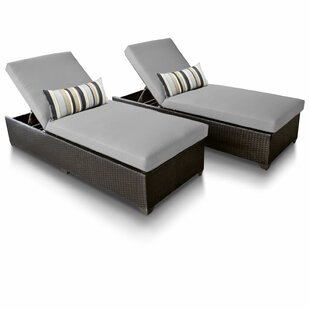Medley Sun Lounger Set with Cushions (Set of 2)