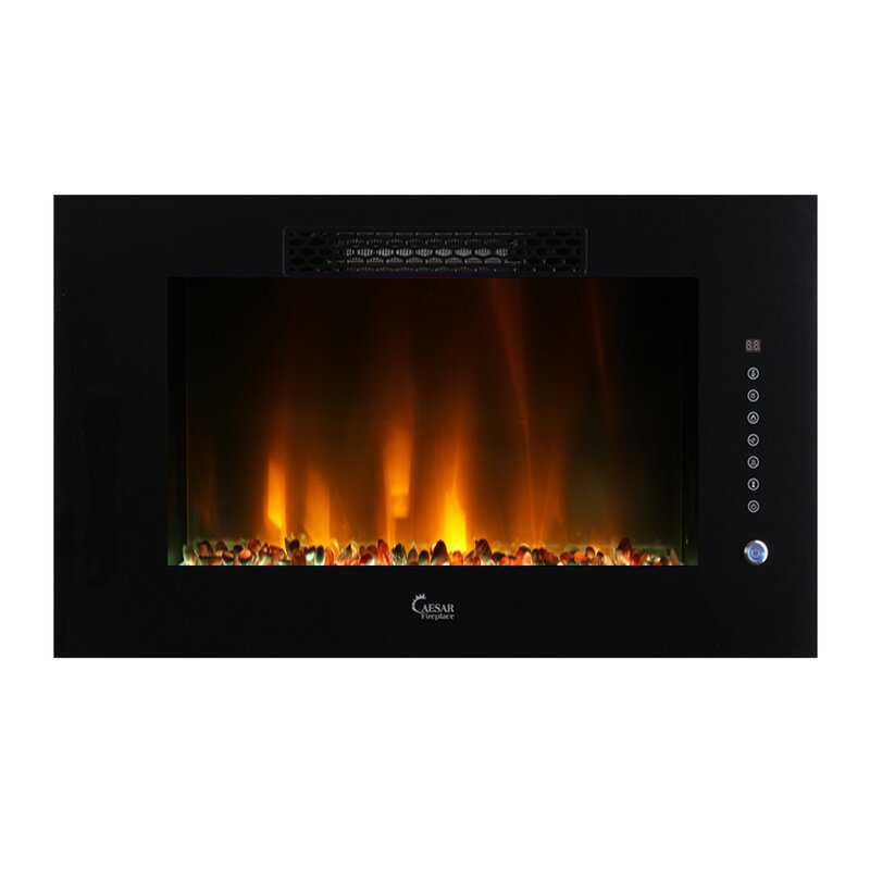 Brayden Studio Brentwood Linear Multicolor Flame Wall Mount ...