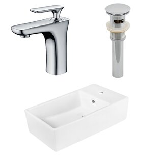 Buying Above Counter Ceramic Circular Undermount Bathroom Sink with Faucet and Overflow ByRoyal Purple Bath Kitchen