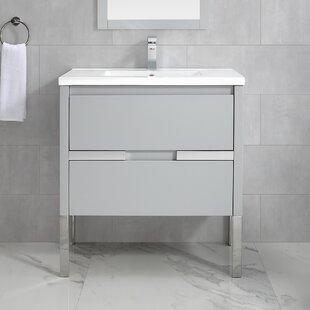 Kielbasa 32 Wall-Mounted Single Bathroom Vanity Set ByOrren Ellis