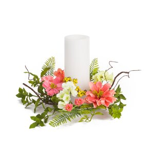 Cosmos and Berry Candle Ring Floral Candelabrum (Set of 6)