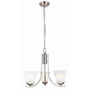Bendigo 3-Light Shaded Chandelier by Ebern Designs
