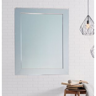 Best Modern American Chrome Wall Mirror By Brandt Works LLC
