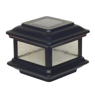 Solar 2-Light Fence Post Cap By Classy Caps Outdoor Lighting