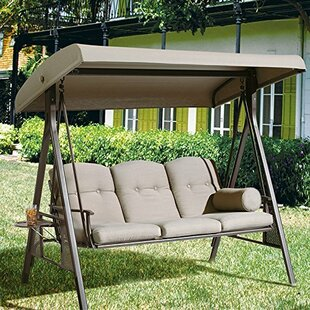 Red Barrel Studio Rohrbaugh 3 Seat Outdoor Porch Swing with Stand