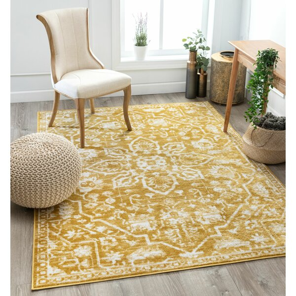 Well Woven Dazzle Power Loom Gold White Rug Reviews Wayfair Co Uk