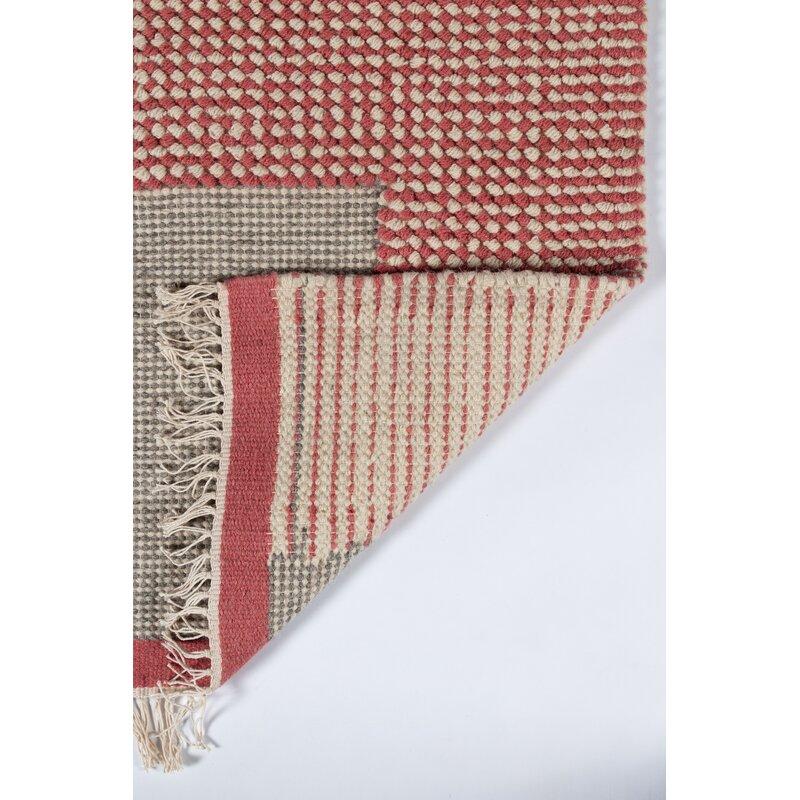 Novogratz Flatweave Wool Pink Area Rug