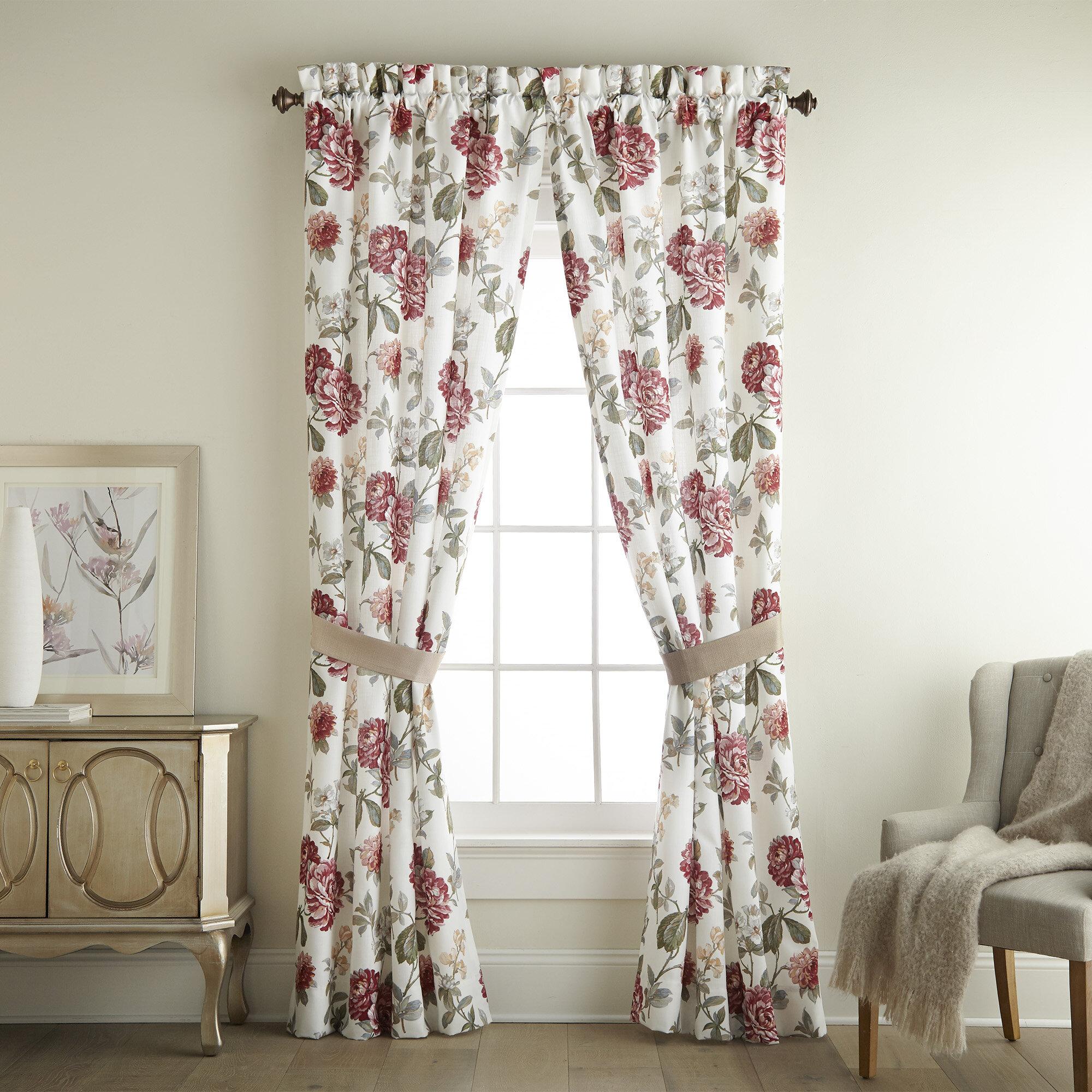 Croscill Fleur Pole Top Drapery Floral Curtain Panels Wayfair