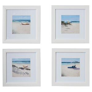 umbrella framed 4 piece photo graphic print set on paper set of 4