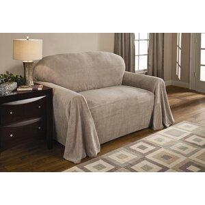 Coral Box Cushion Loveseat Slipcover