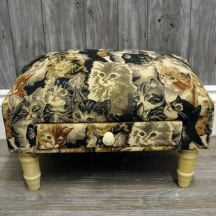 Cat Fabric Decorative Stool By Brambly Cottage