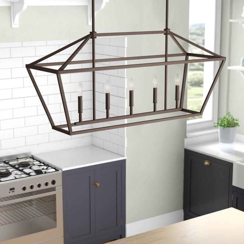 Freemont 5-Light Kitchen Island Linear Chandelier