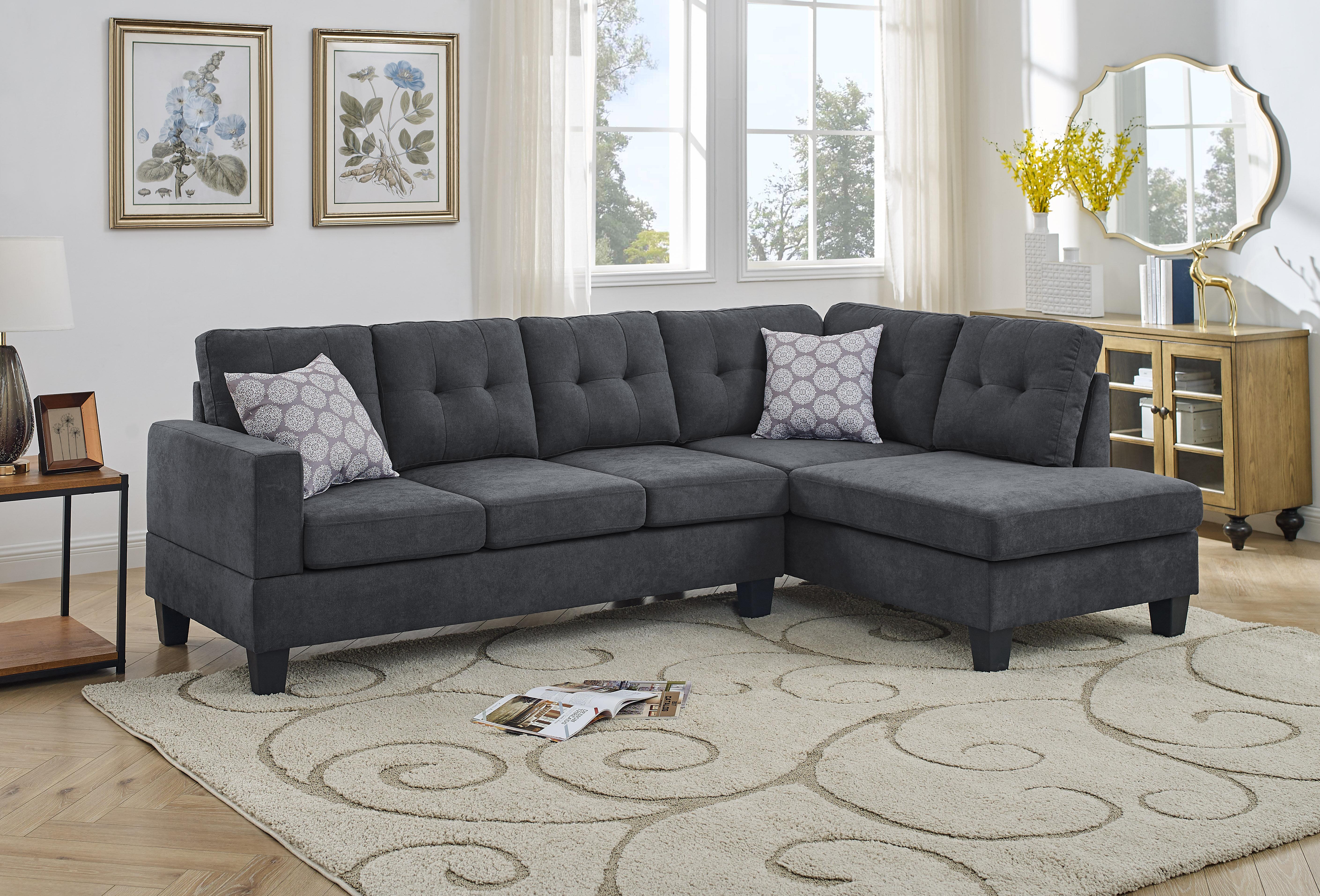 Ebern Designs Adryel 98 Wide Microfiber Microsuede Right Hand Facing Sofa Chaise Reviews Wayfair