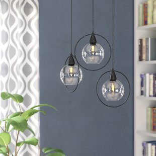 Mouton 3-Light Cluster Pendant by Wrought Studio