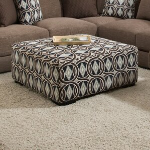 Ashanti Wood Ottoman by Latitude Run