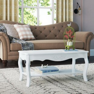 Sergeon Cottage Home Wood Coffee Table wi..