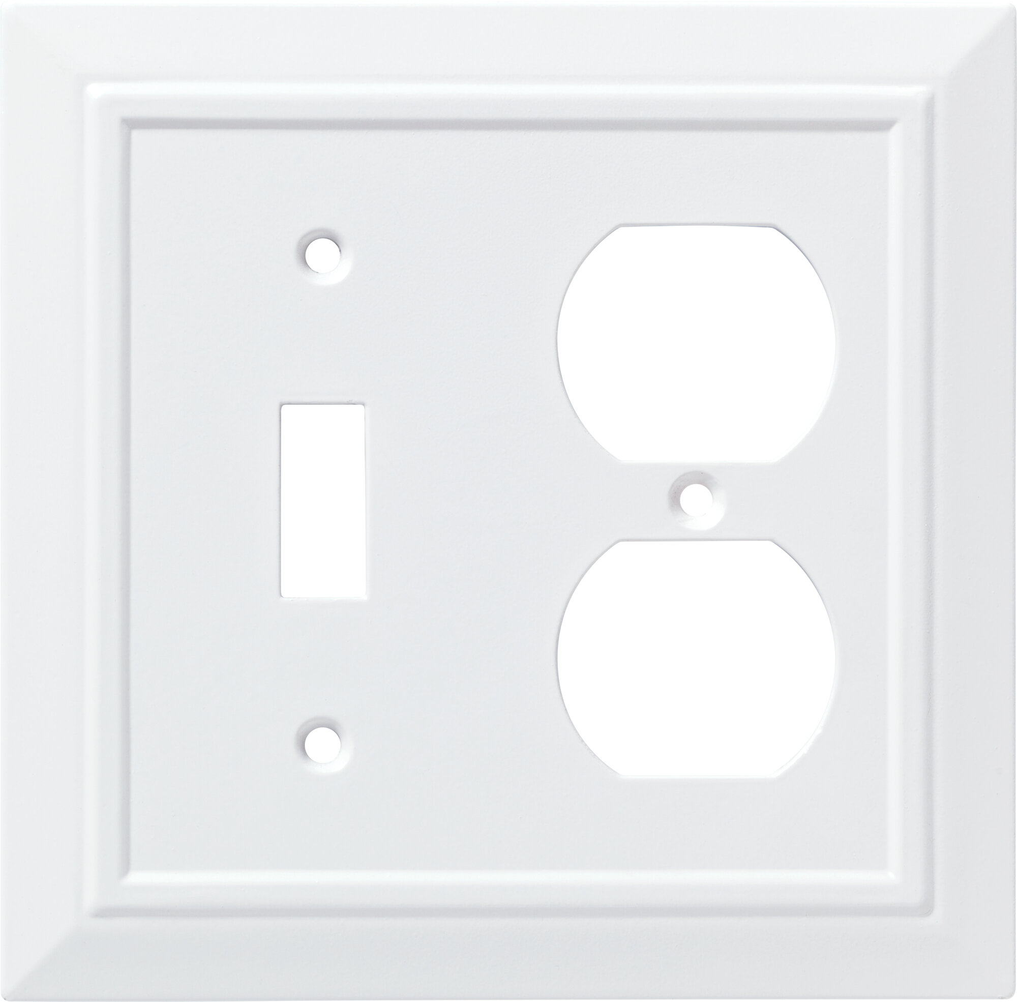 Franklin Brass Classic Architecture 2 Gang Duplex Outlet Toggle Light Switch Combination Wall Plate Reviews Wayfair