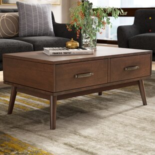 Ripton Mid-Century Modern Coffee Table George Oliver